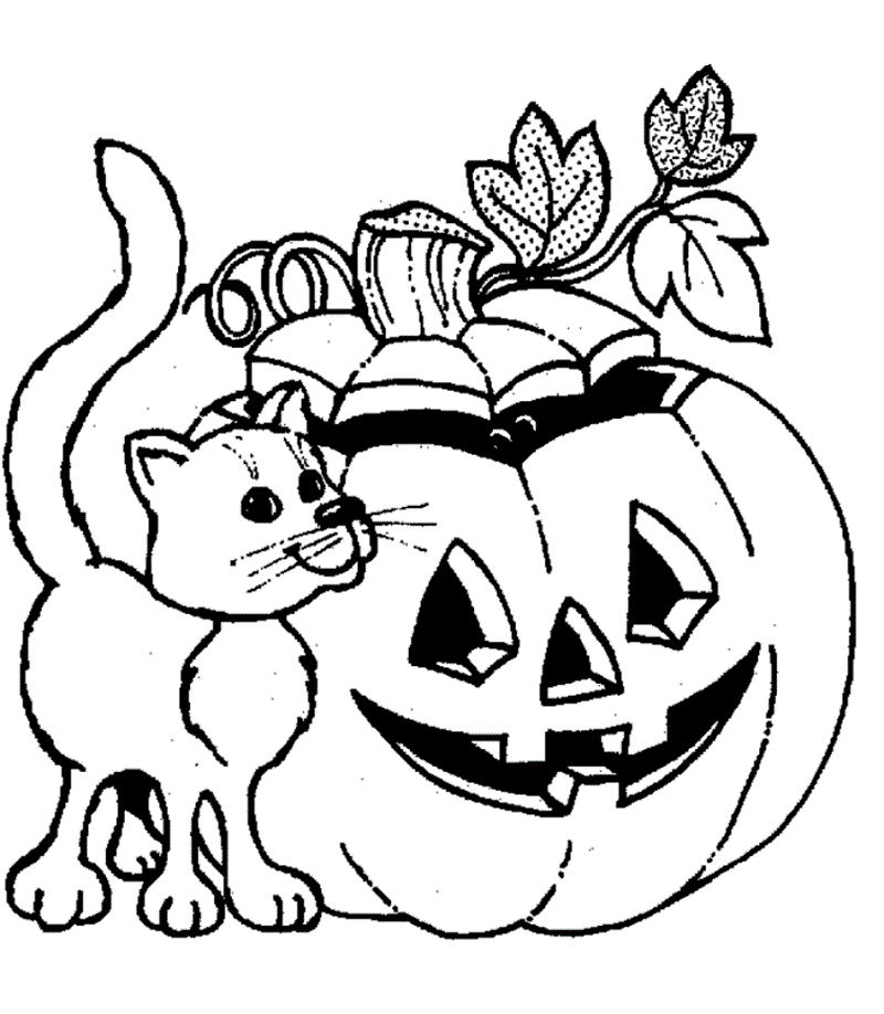 Halloween Color Pages Printable Free 001