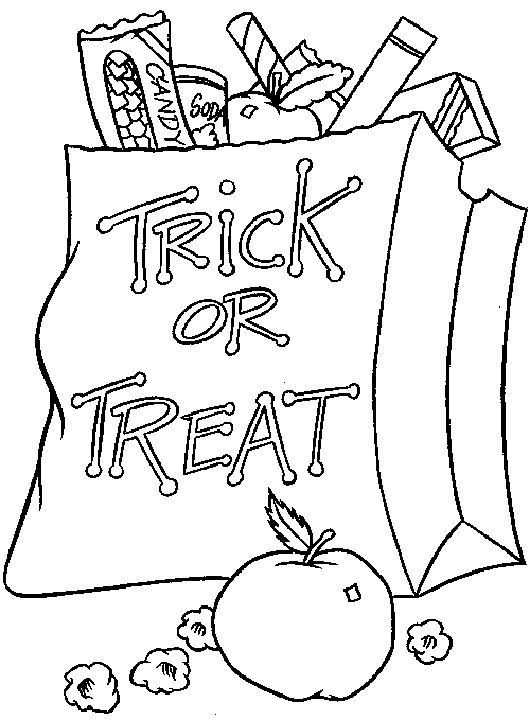Halloween Coloring Page Trick Or Treat 001 Coloring Sheets