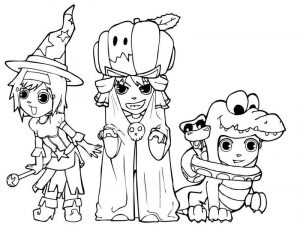 Halloween coloring pages costume
