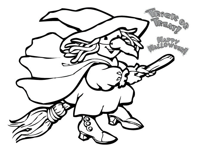 Halloween Coloring Pages For Kids To Print