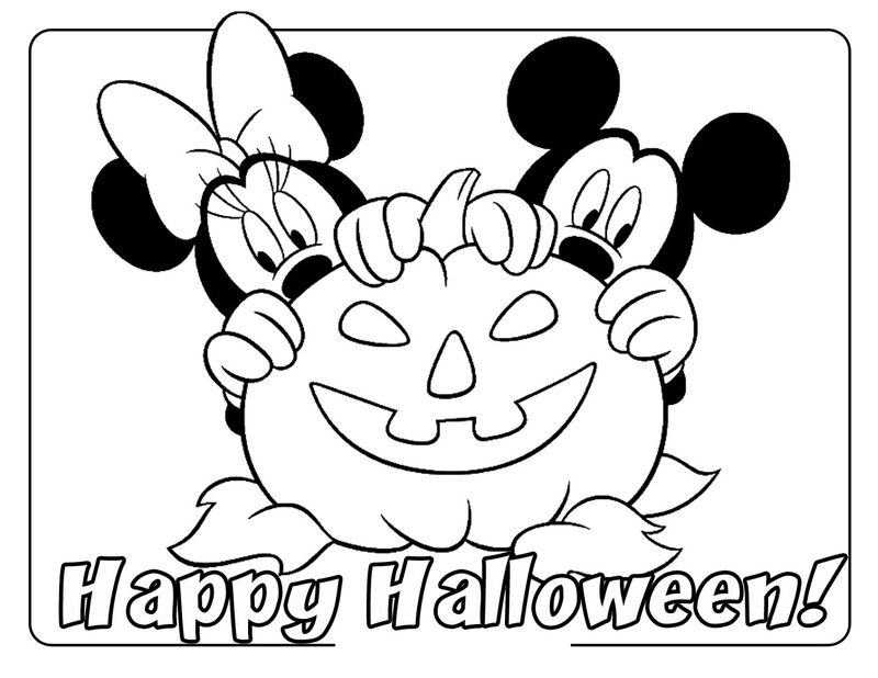 Halloween Coloring Pages Printable Minnie Mouse