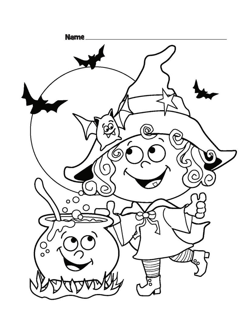 Halloween Coloring Sheet For Kids 001