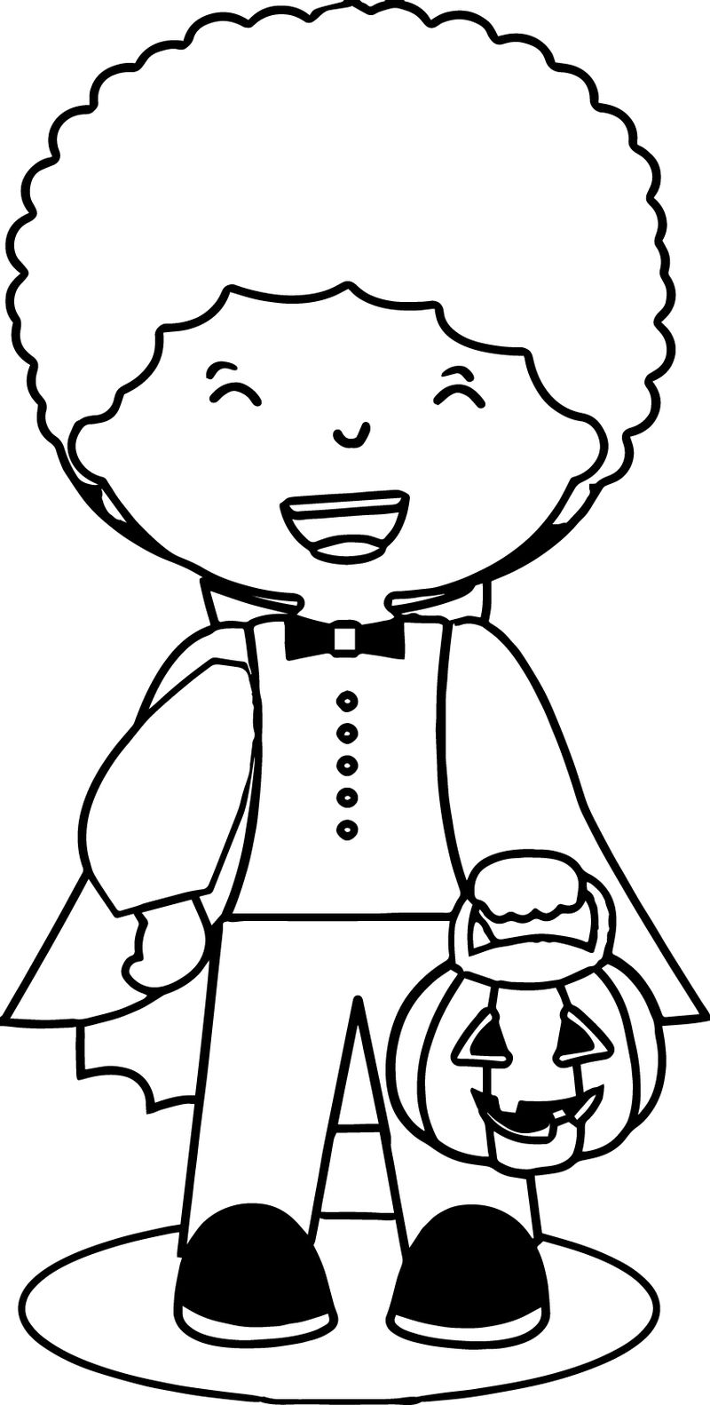 Halloween Costumes Child Coloring Page 05