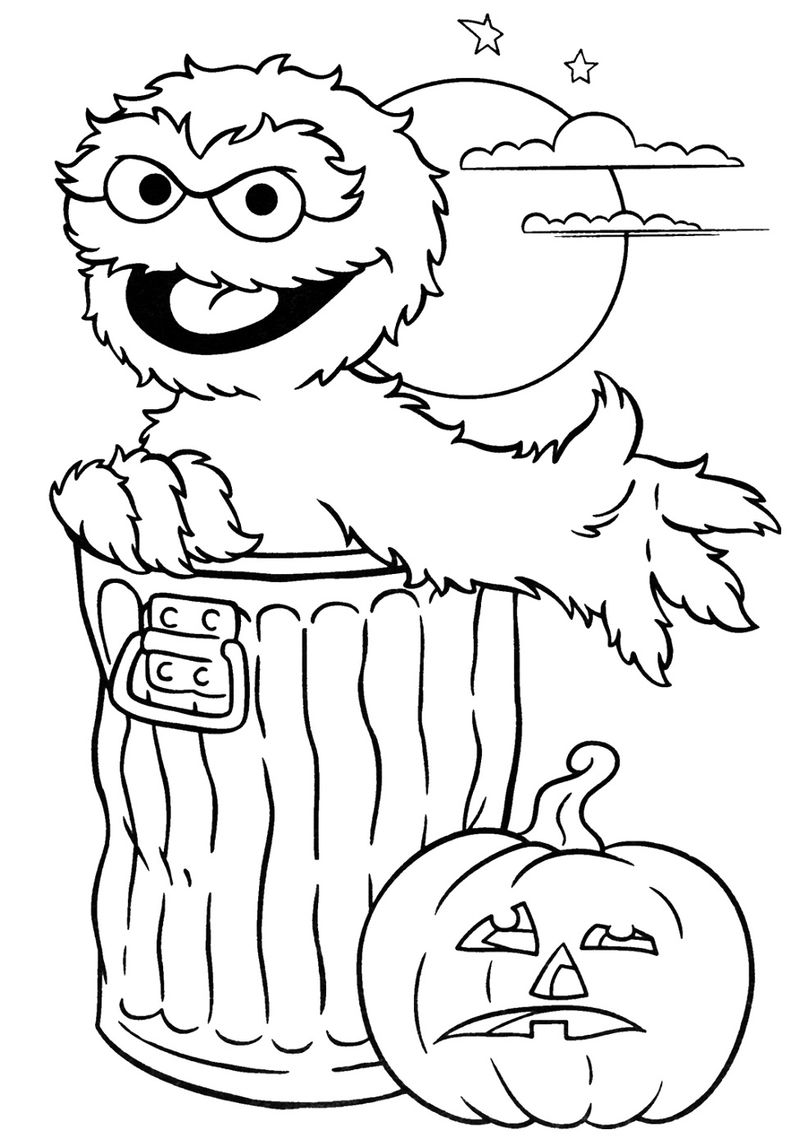 Halloween Printable Coloring Pages For Kids 001