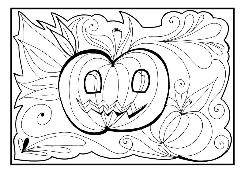 Halloween Printable Coloring Pages Pumpkin 001