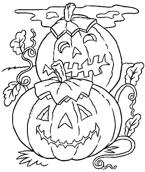 Halloween Pumpkin Coloring Pages1