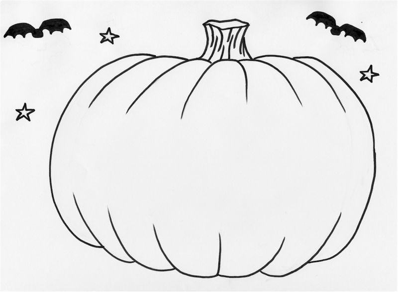 Halloween Pumpkins Coloring Pages