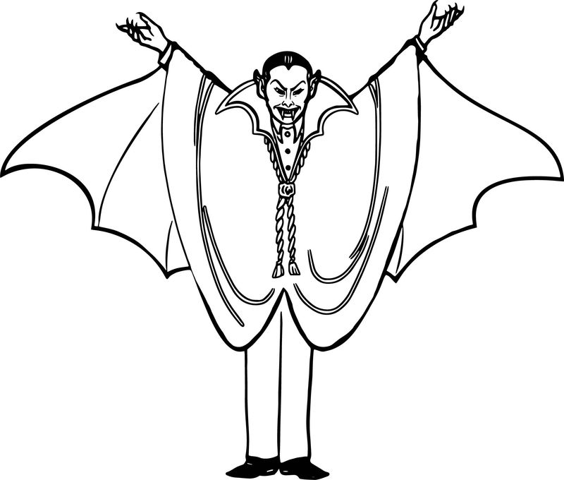 Halloween Vampire Coloring Page