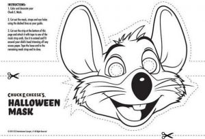 Halloween Chuck E Cheese Coloring Pages To Print