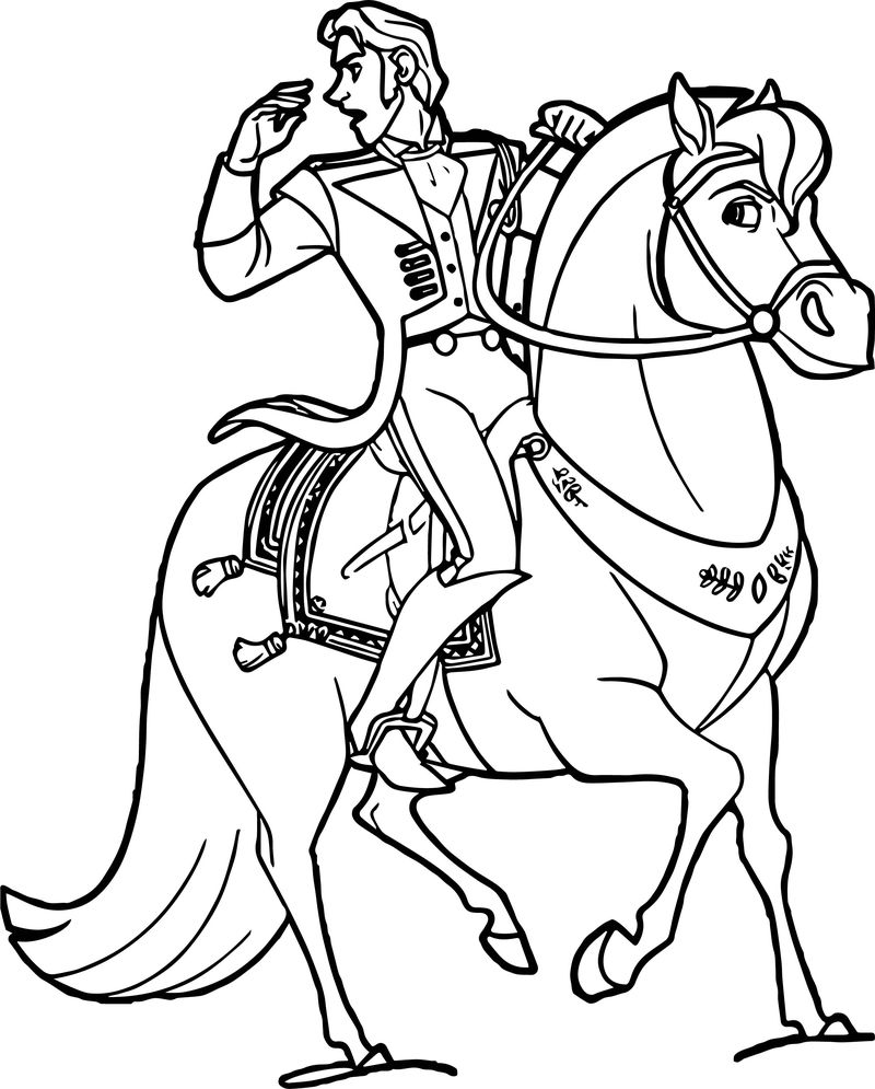 Hans Horse Coloring Page