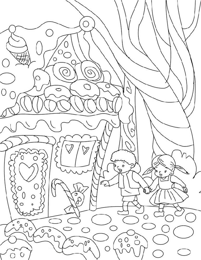 Hansel And Gretel Activities For Children - Coloring Sheets