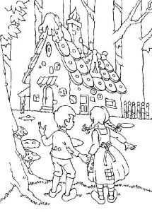 Hansel and gretel worksheets house