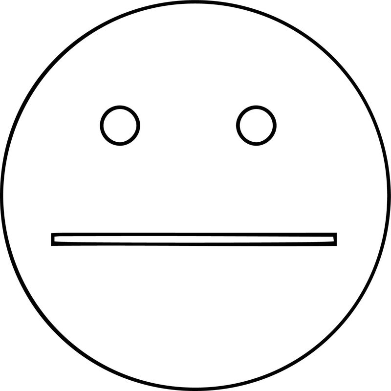 Happy And Sad Face Free Images Coloring Page