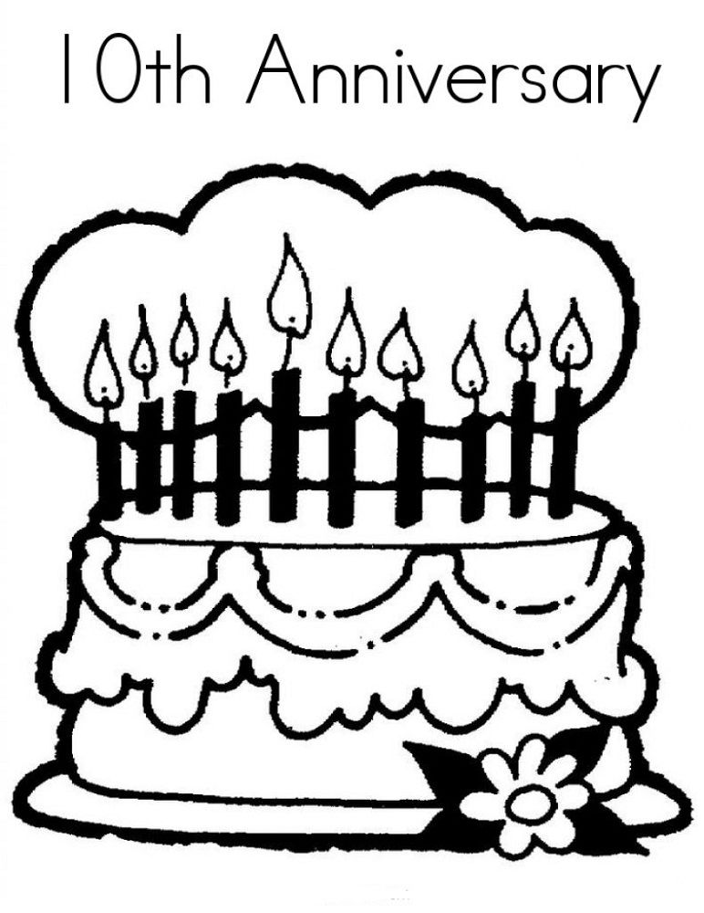 Happy Anniversary Coloring Page Easy