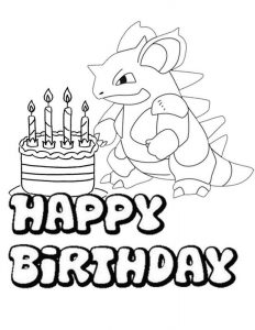 Happy birthday color pages pokemon