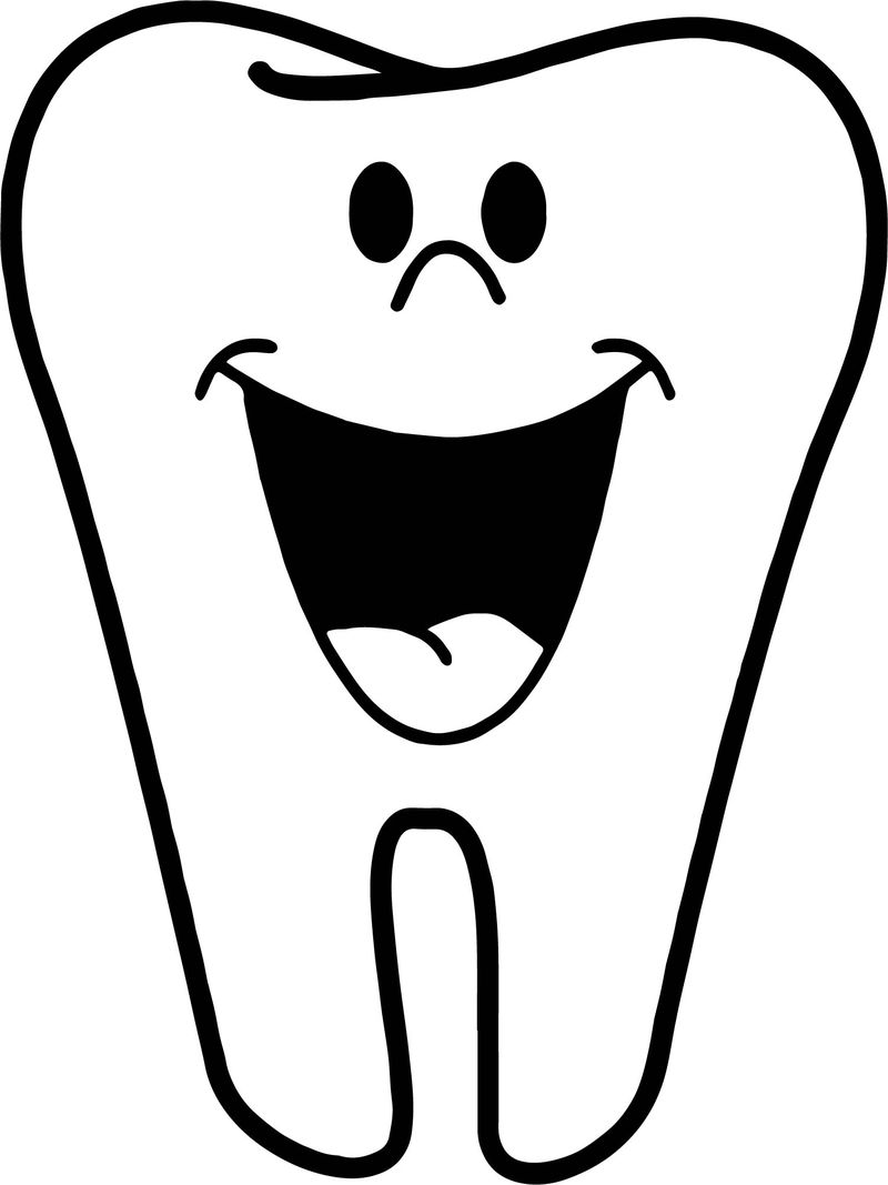 Happy Dent Dental Coloring Page