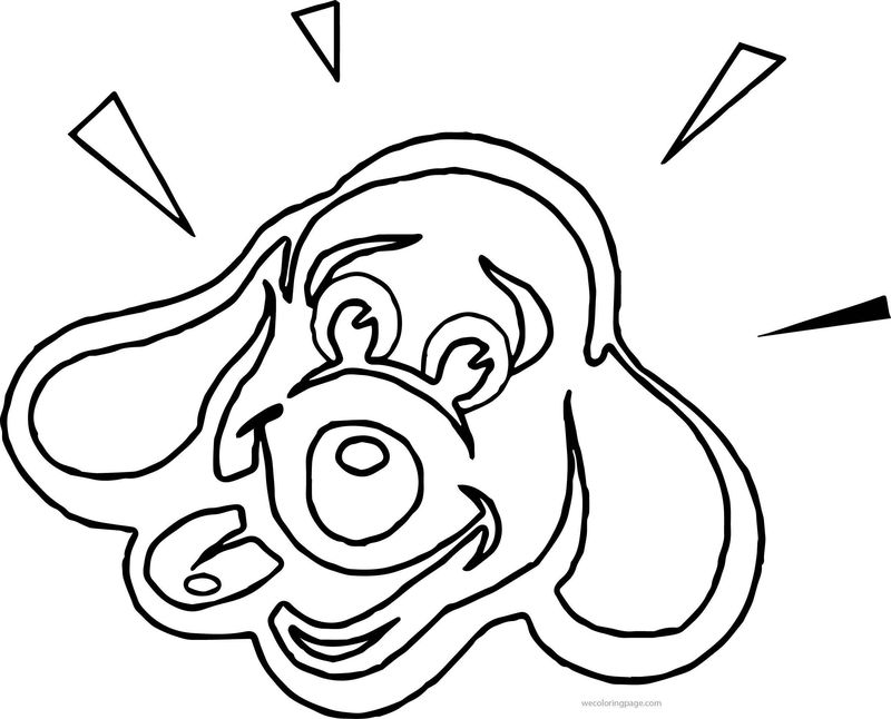 Happy Dog Face Coloring Page Coloring Sheets