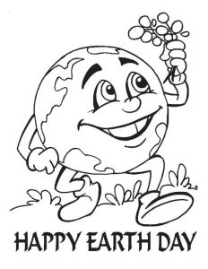 Happy earth day coloring pages