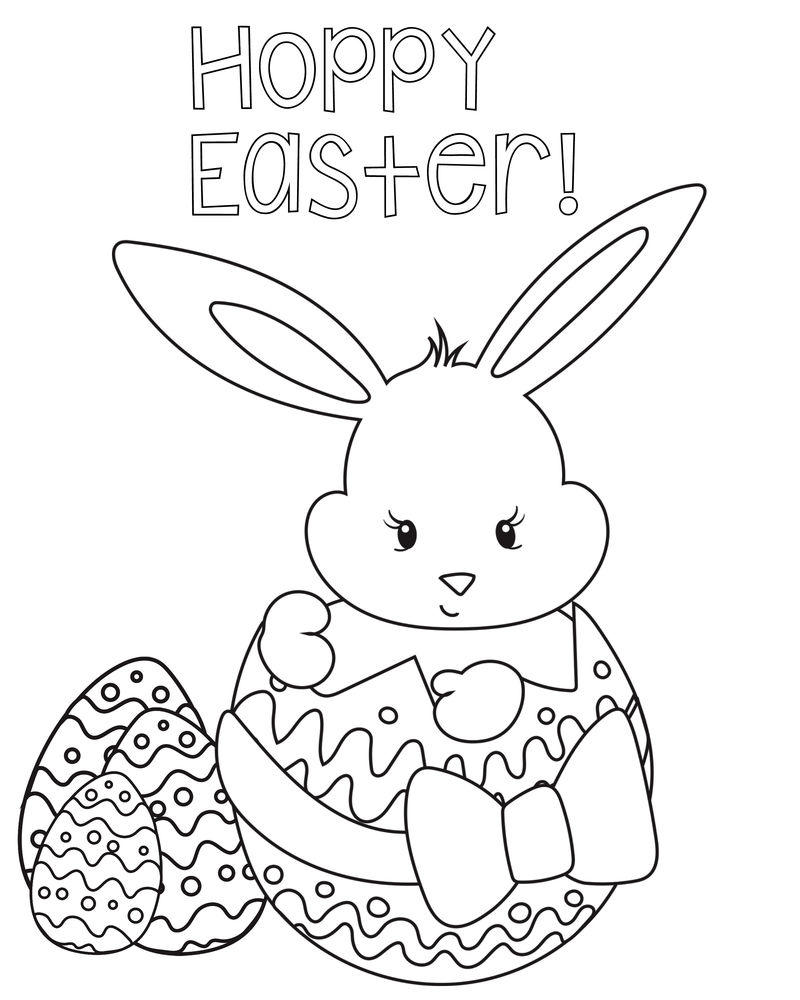 Happy Easter Coloring Pages Free Printables