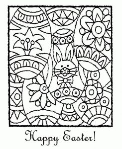 Happy easter coloring pages free 1