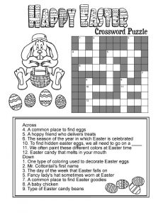 Happy easter crossword puzzle