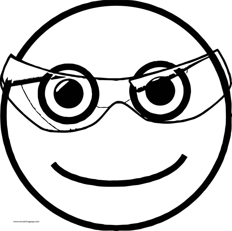 Happy Face Opacity Transparent Glass Coloring Page