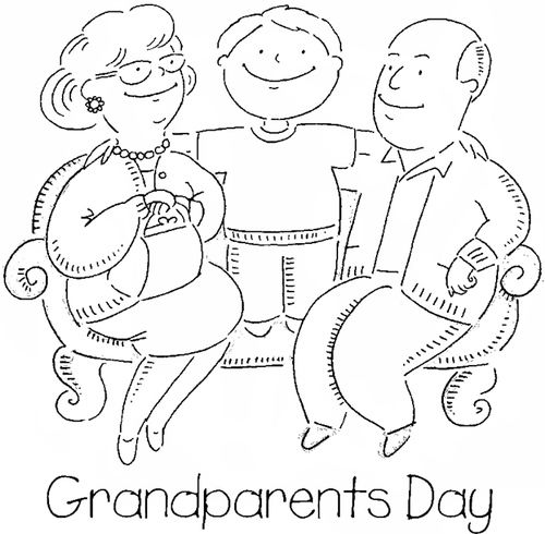 Happy Grandparents Day Coloring Pages 1