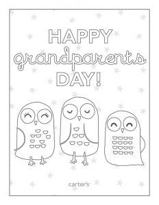 Happy grandparents day coloring printable