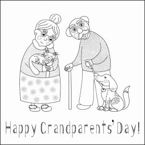Happy grandparents day coloring printables