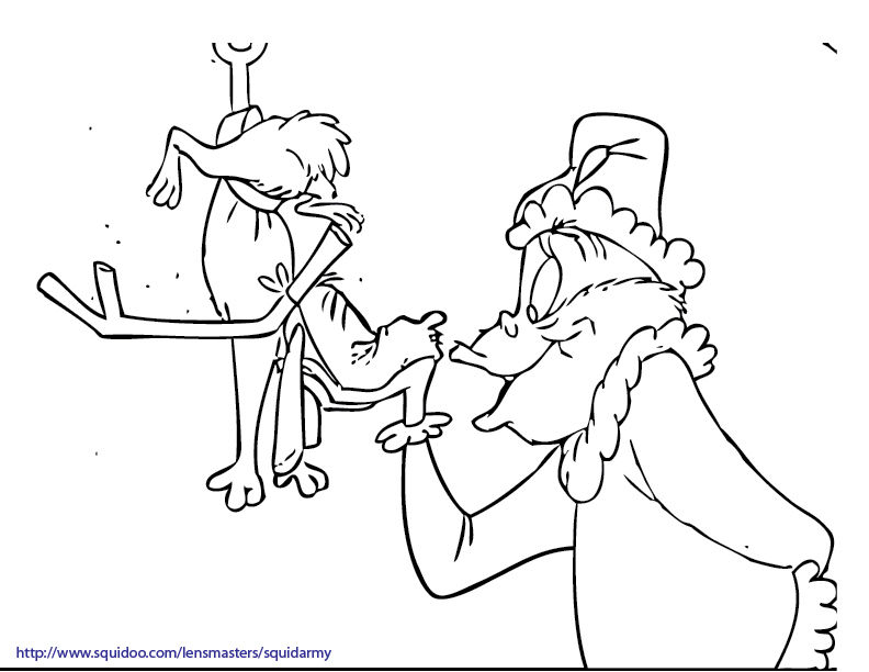 Happy Grinch Coloring Pages