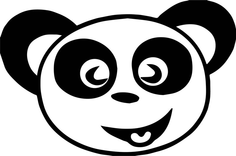 Happy Panda Face Free Images Coloring Page