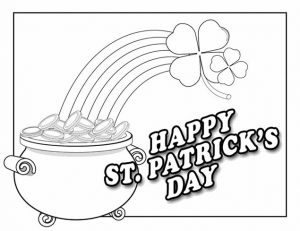 Happy pot o gold coloring page