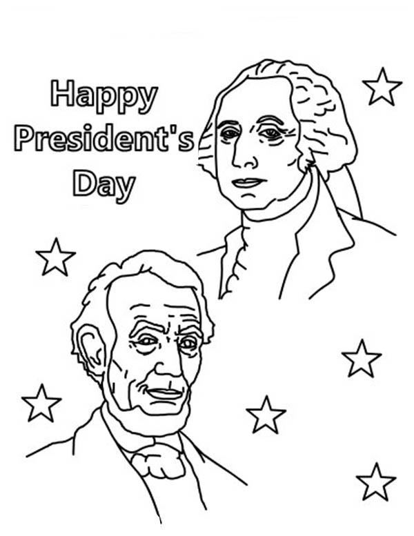 Happy Presidents Coloring Page