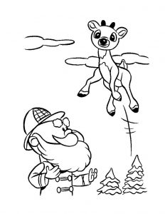 Happy rudolph coloring pages