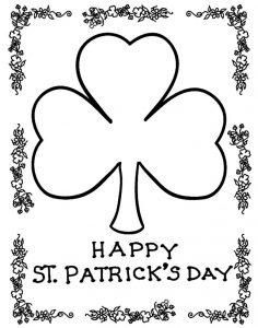 Happy st.Patricks day coloring page