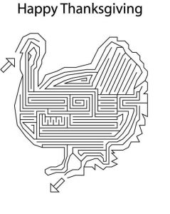 Happy thanksgiving maze puzzle