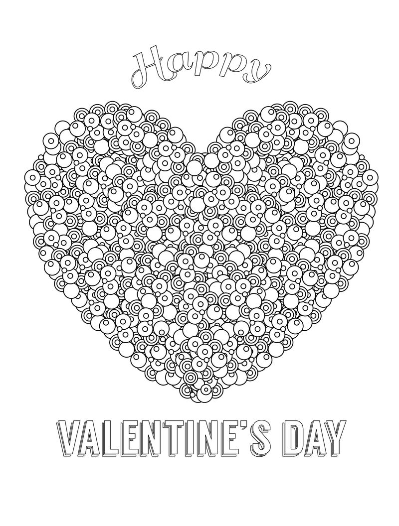 Happy Valentines Day Coloring Pages For Adults