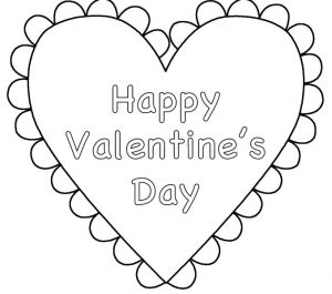 Happy valentines day coloring pages heart