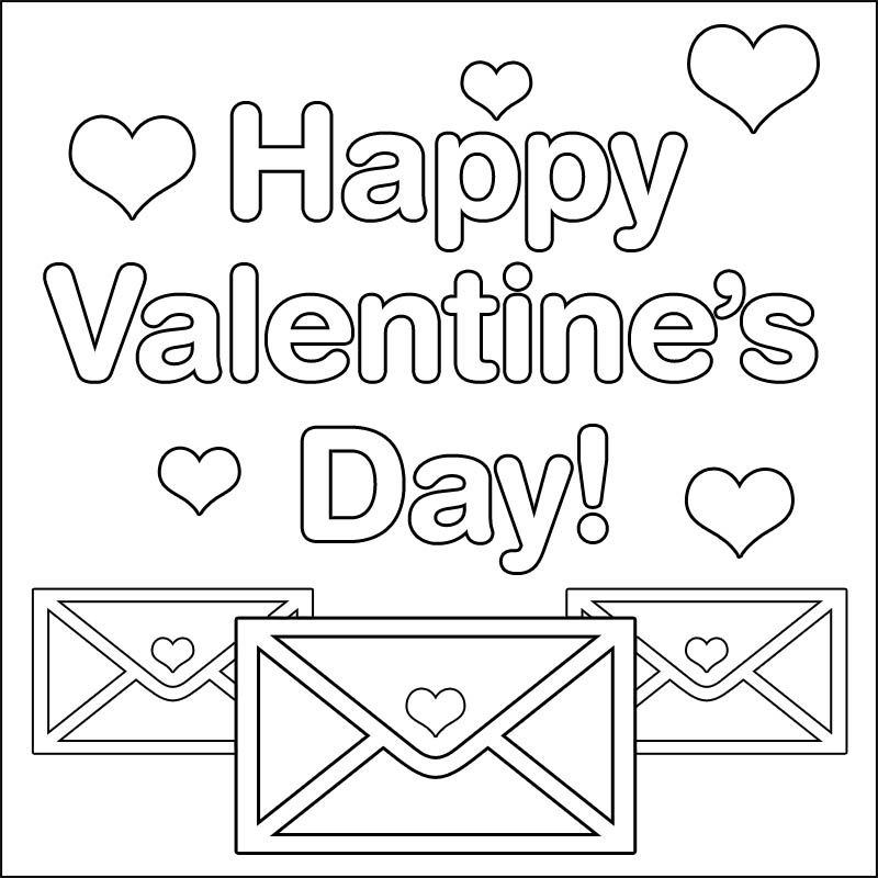 Happy Valentines Day Coloring Pages Valentines