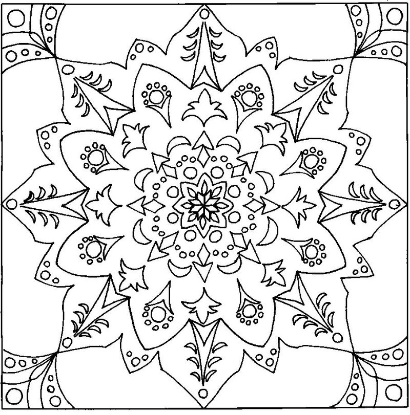 Hard Coloring Pages For Adults Mandala