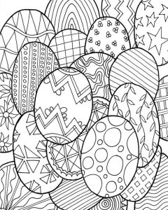 Hard easter coloring pages for adults