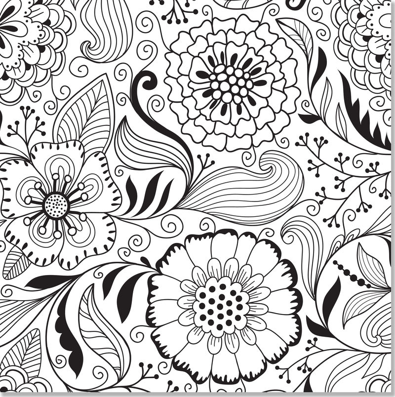 Hard Flower Coloring Pages For Teens