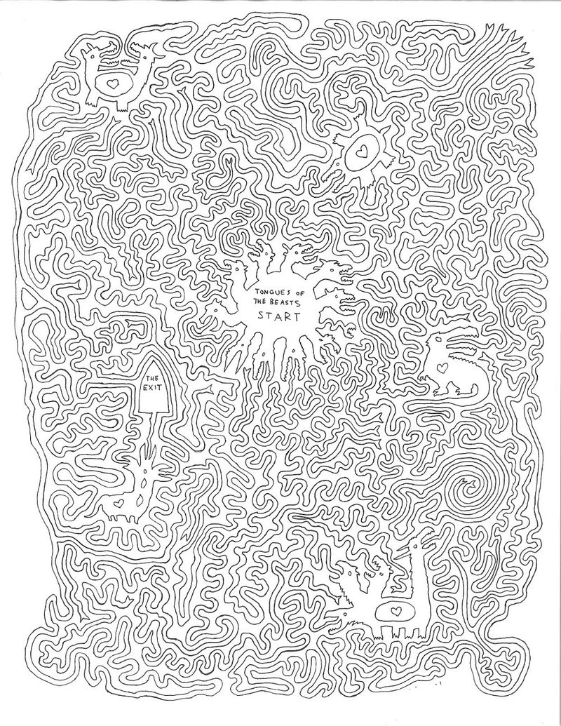 Hard Mazes For Adults Sheet 001