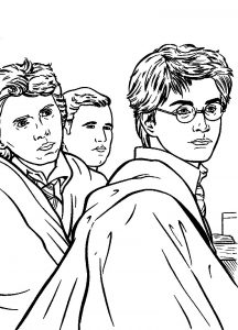 Harry potter and the deathly hallows coloring pages