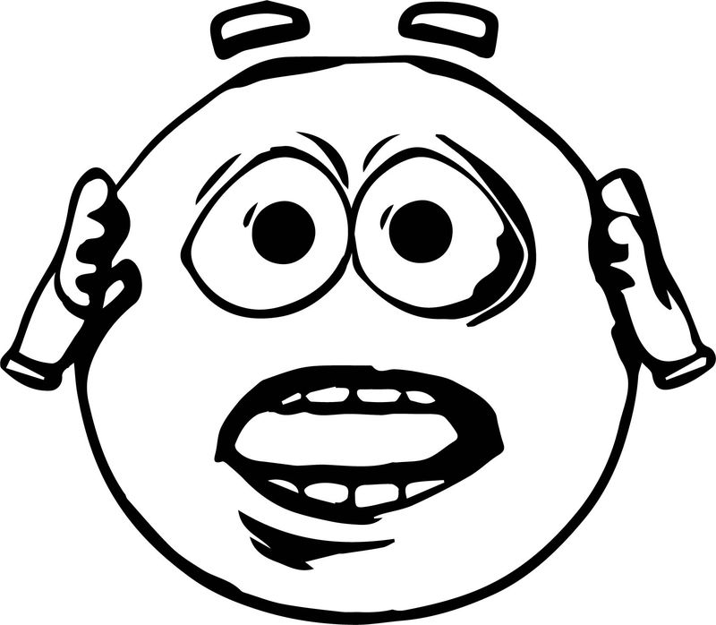Haste Emoticon Emology Smiley Coloring Page