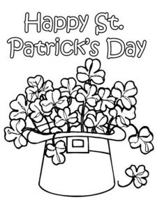Hat o shamrock st patricks day coloring pages