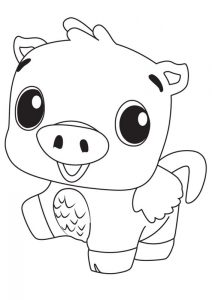 Hatchimals coloring pages pig