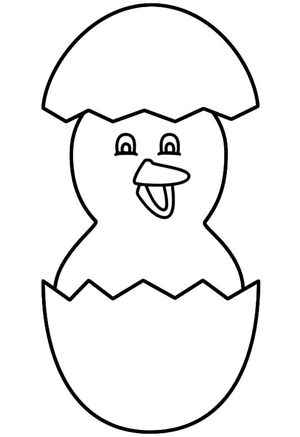 Hatching Chick Coloring Page