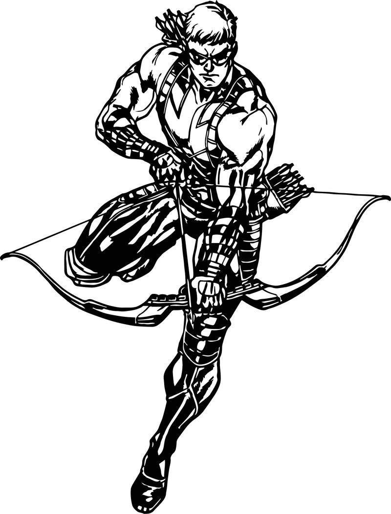 Hawkeye Avengers Assemble Coloring Page Coloring Sheets