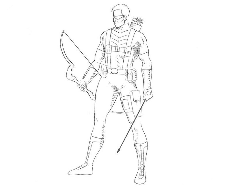Hawkeye Coloring Pages Activity